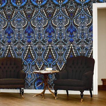 Blue Flutterby Wallpaper