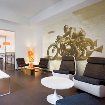 British Motorbike Wall Mural Wallpaper Purlfrost