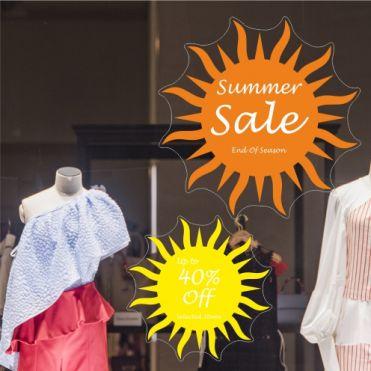 Sun Sale & Discount Stickers