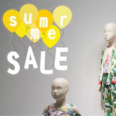 Summer Sale Balloon Stickers