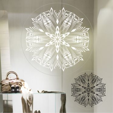 Sharp Snowflake Stickers