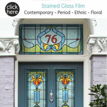 Stained Glass Window Film & Stickers