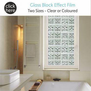 Faux Glass Blocks Window Film