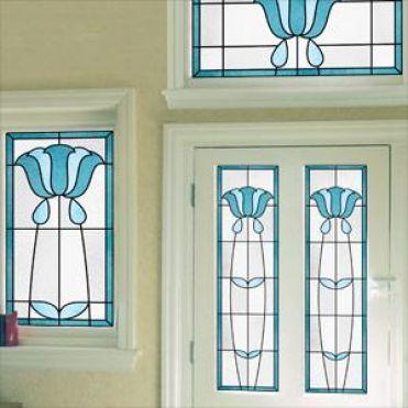 Topaz Art Deco Stained Glass