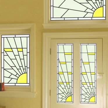 Zircon Art Deco Stained Glass