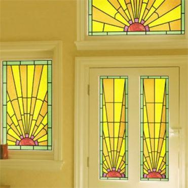 Cornelian Art Deco Stained Glass