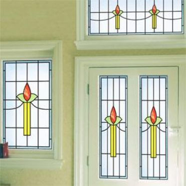 Diamond Art Deco Stained Glass
