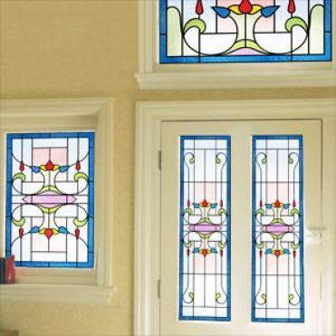 Quartz Art Deco Stained Glass