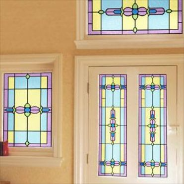 Ruskin Art Nouveau Stained Glass Design