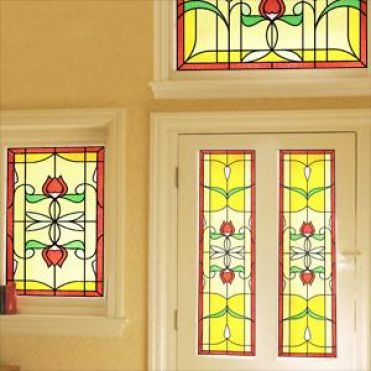 Horta Art Nouveau Stained Glass Design