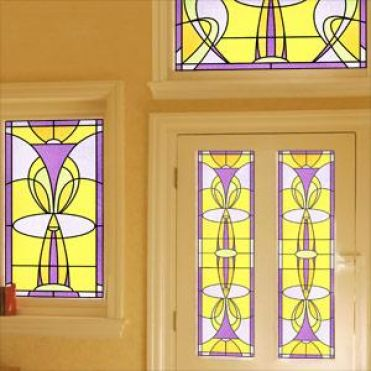 Endell Art Nouveau Stained Glass Design
