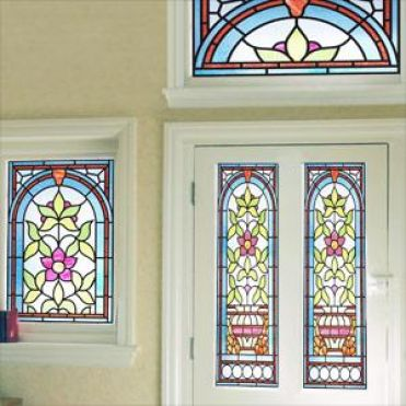 Galle Art Nouveau Stained Glass Design