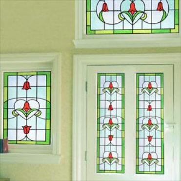 Example of stained glass window film