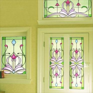Wright Art Nouveau Stained Glass Design
