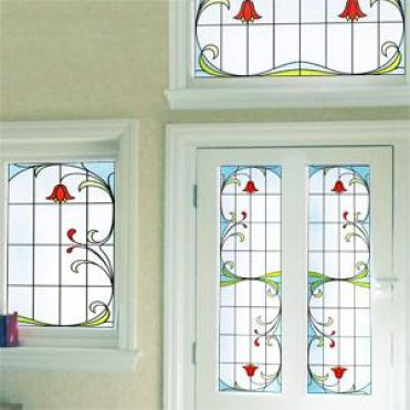 Art Nouveau Stained Glass Window Film Purlfrost