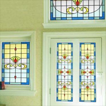 Beardsley Art Nouveau Stained Glass Design