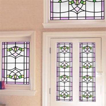Sullivan Art Nouveau Stained Glass Design