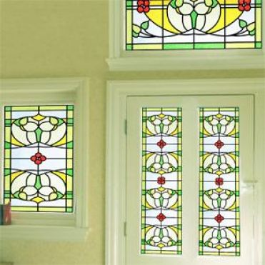 Mackintosh Art Nouveau Stained Glass Design