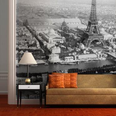 Eiffel and Seine Wall Mural
