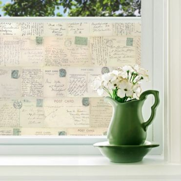 Green Stamp Postcards Window Film