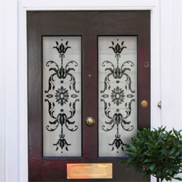 Lila Victorian Frosted Door Pattern