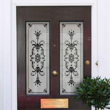 Iris Victorian Frosted Door Pattern