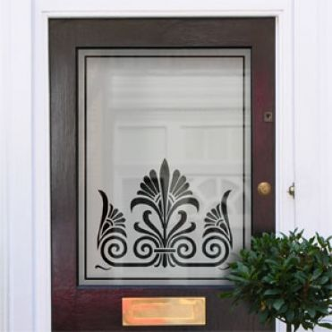 Edna Victorian Frosted Door Pattern