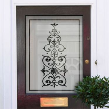 Bess Victorian Frosted Door Pattern