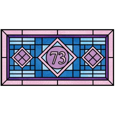 Franklin House Number Sticker