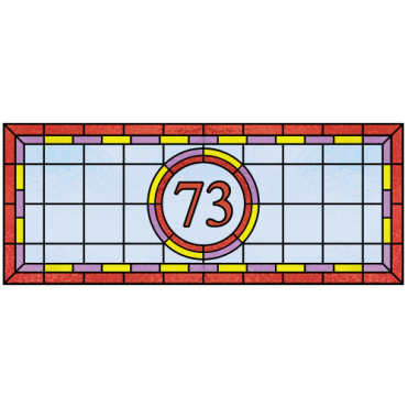 Winifred House Number Sticker