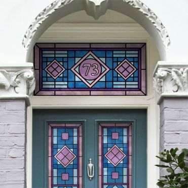 Victorian Stained Glass House Numbers
